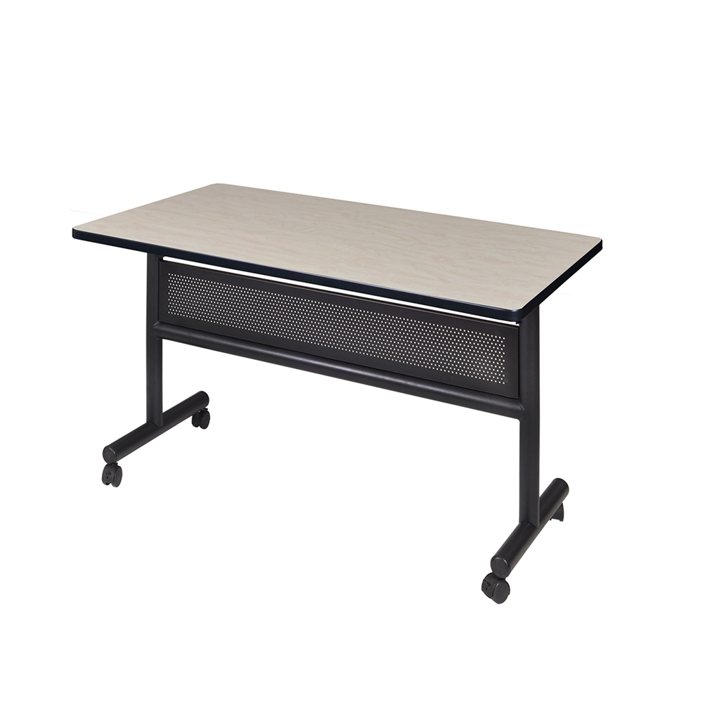 Kobe X Flip Top Mobile Training Table With Modesty Maple - Lorell flipper training table