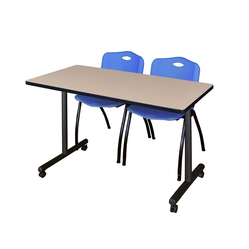 48 x 24 kobe mobile training table beige 2 39 m 39 stack. Black Bedroom Furniture Sets. Home Design Ideas
