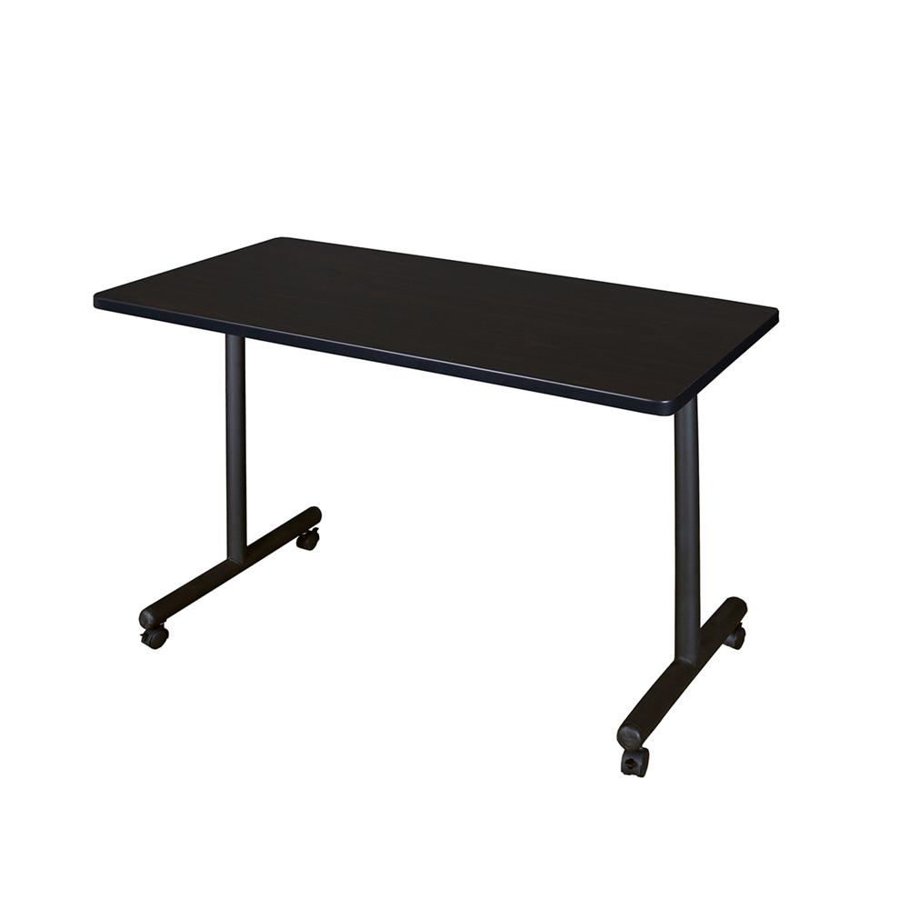 "Kobe 48"" x 24"" Mobile Training Table- Mocha Walnut. Picture 1"