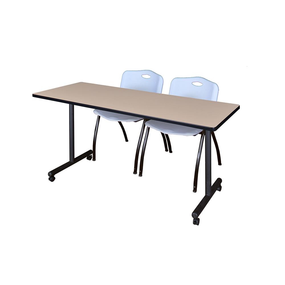 72 x 24 kobe mobile training table beige 2 39 m 39 stack. Black Bedroom Furniture Sets. Home Design Ideas
