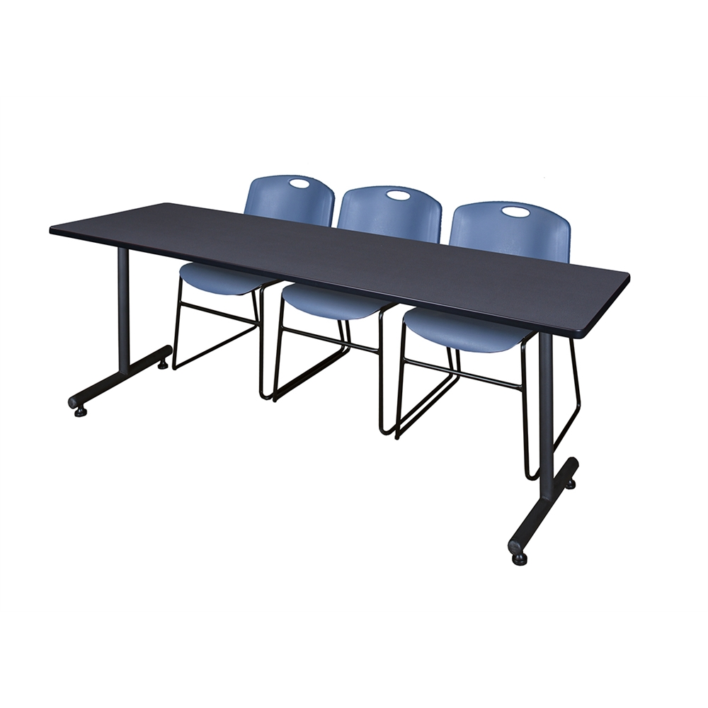 Quot kobe training table grey zeng stack chairs