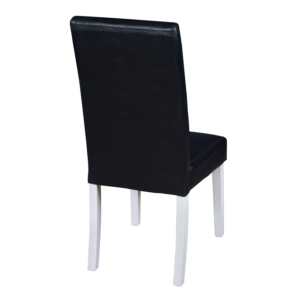 """Mod 30"""" Round Table- White Wood Grain & 2 Tyler Dining Chairs- Black/White. Picture 4"""