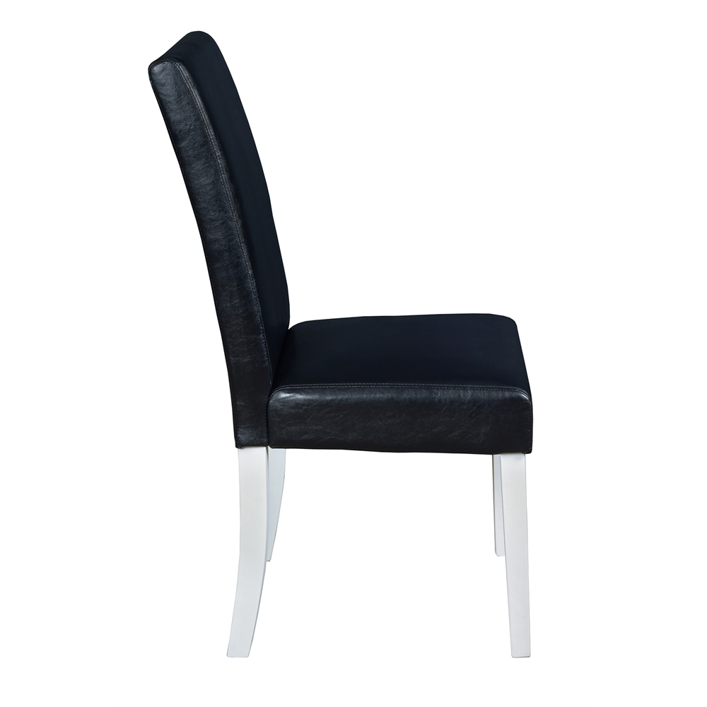 """Mod 30"""" Round Table- White Wood Grain & 2 Tyler Dining Chairs- Black/White. Picture 3"""