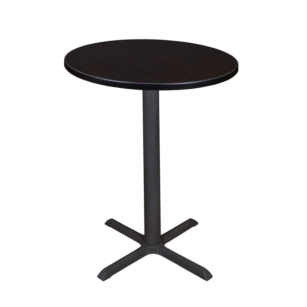 "Cain 30"" Round Café Table- Mocha Walnut. Picture 1"