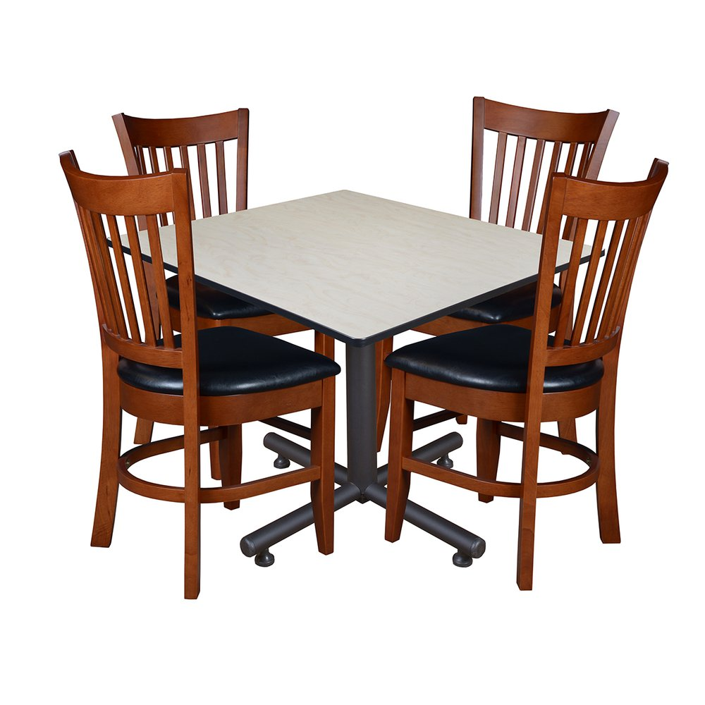 Kobe 48 Quot Square Breakroom Table With 4 Zoe Caf 233 Chairs Maple