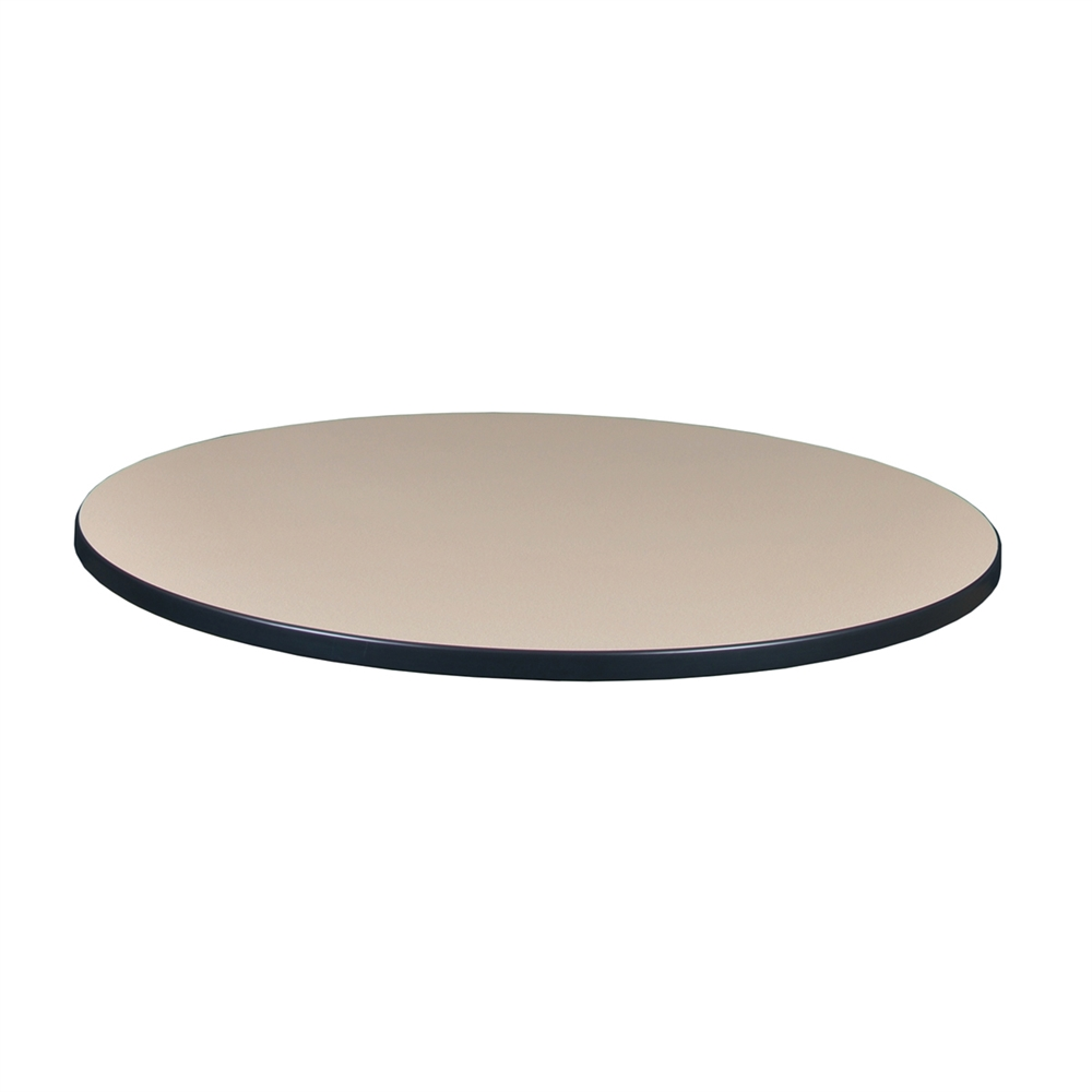 36 Quot Round Laminate Table Top Beige Grey
