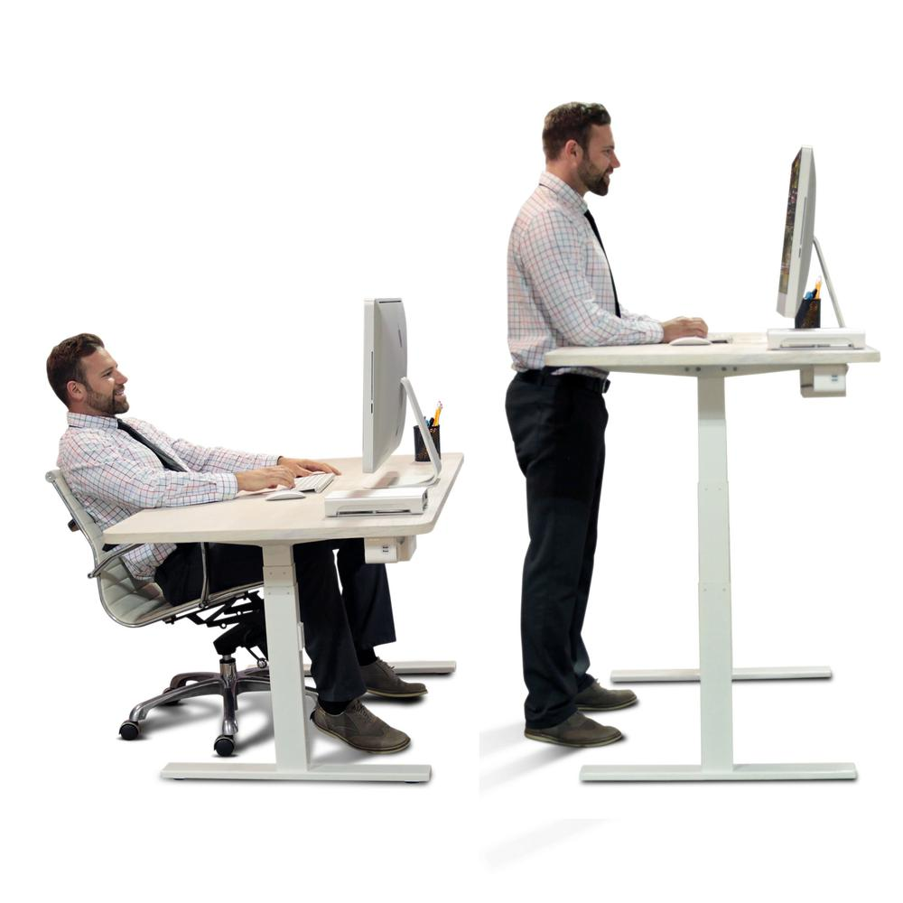 Height-Adjustable Standing Desk - Dual Motor - DIY White ...