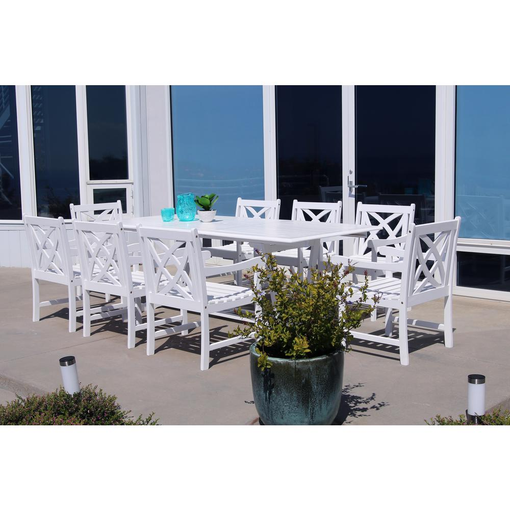 how to build wood 9 piece patio dining set