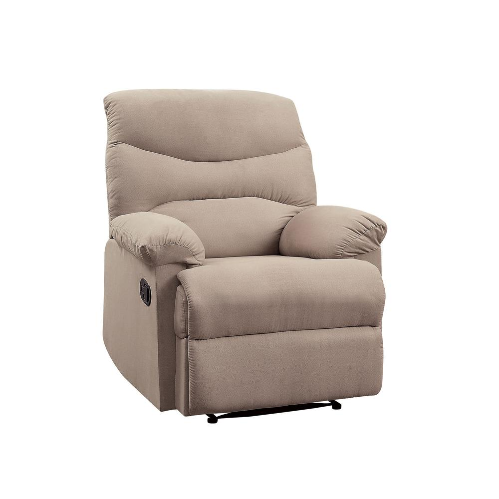 Arcadia Recliner, Beige Fabric. Picture 15