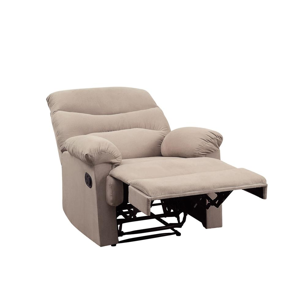 Arcadia Recliner, Beige Fabric. Picture 16
