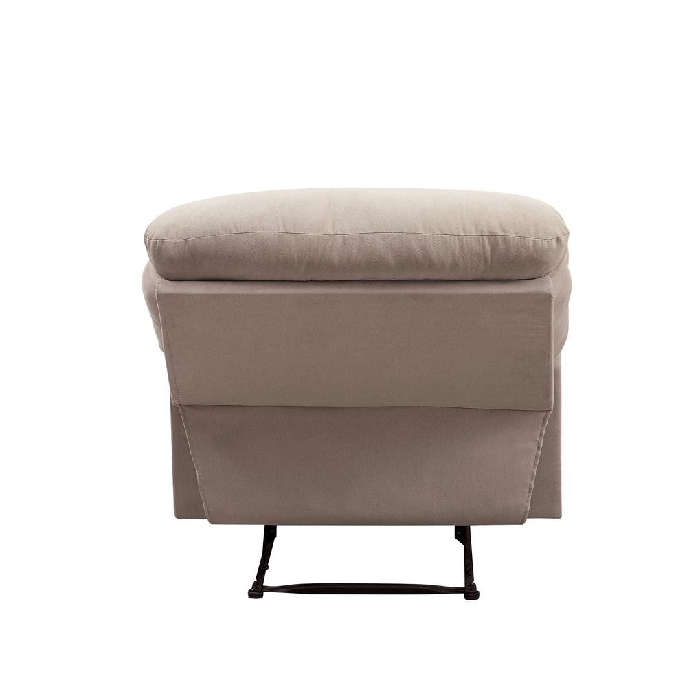 Arcadia Recliner, Beige Fabric. Picture 18