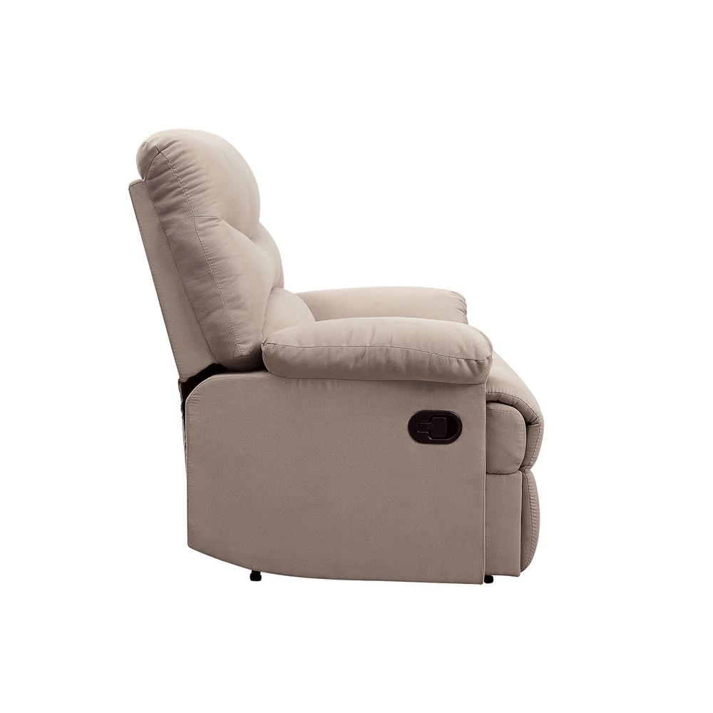 Arcadia Recliner, Beige Fabric. Picture 22