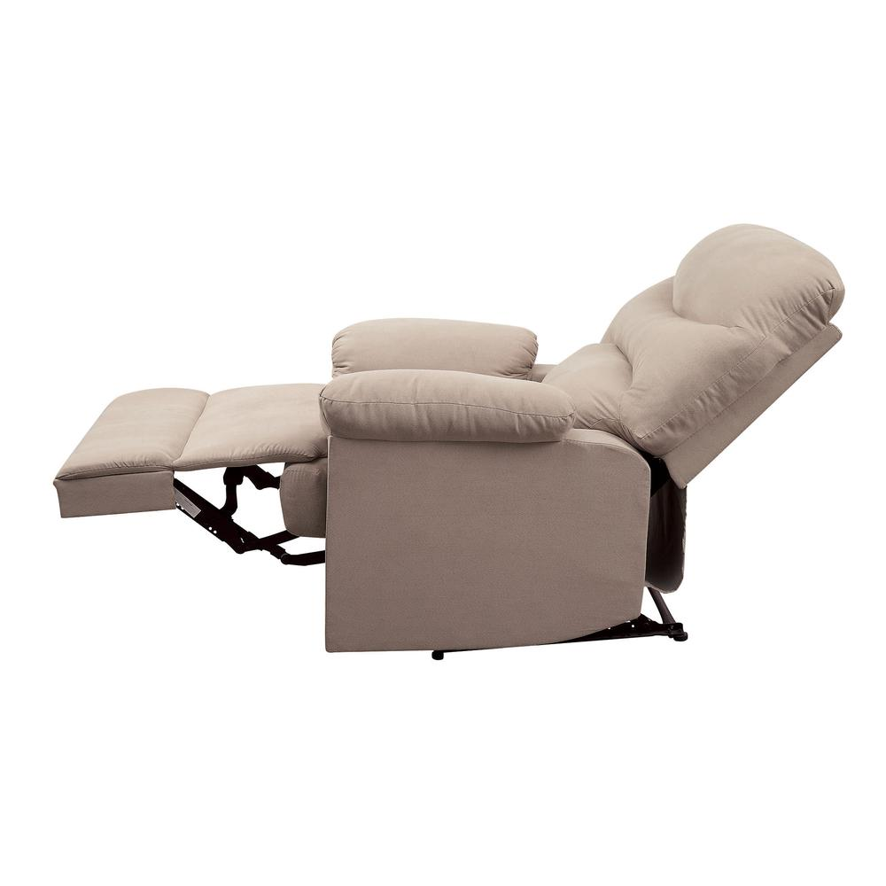 Arcadia Recliner, Beige Fabric. Picture 23
