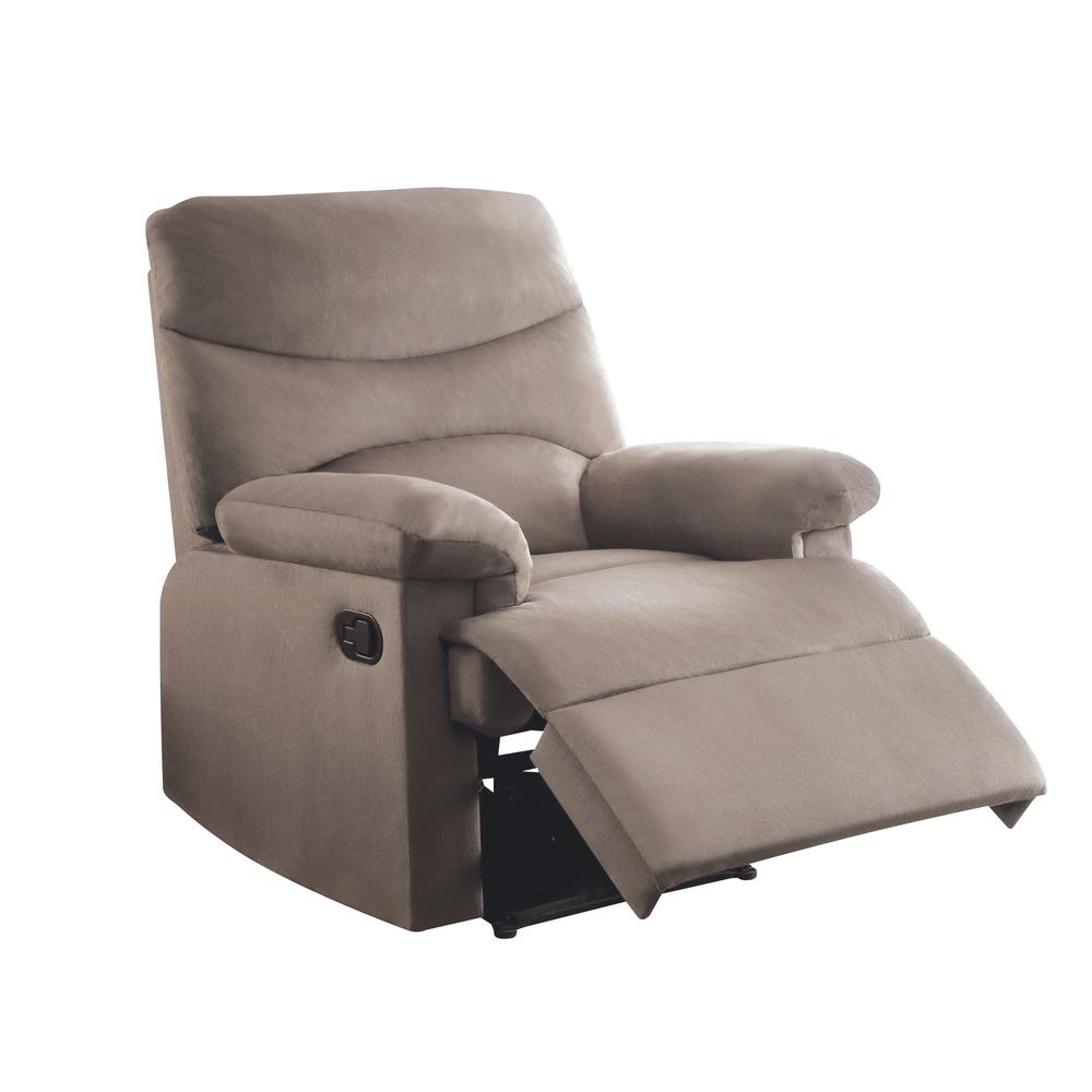 Arcadia Recliner, Beige Fabric. Picture 24