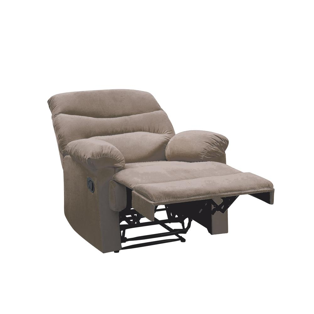 Arcadia Recliner, Beige Fabric. Picture 25