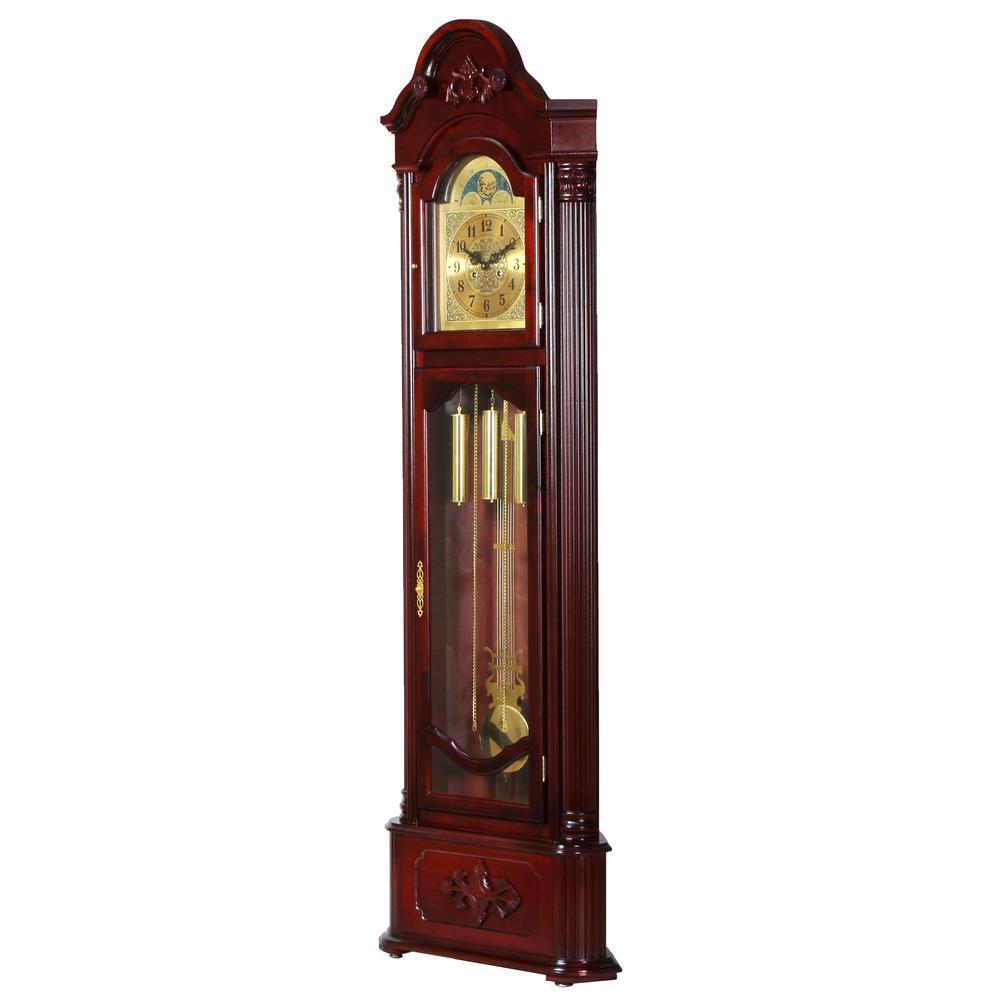 Longwood Grandfather Clock, Dark Walnut. Picture 1