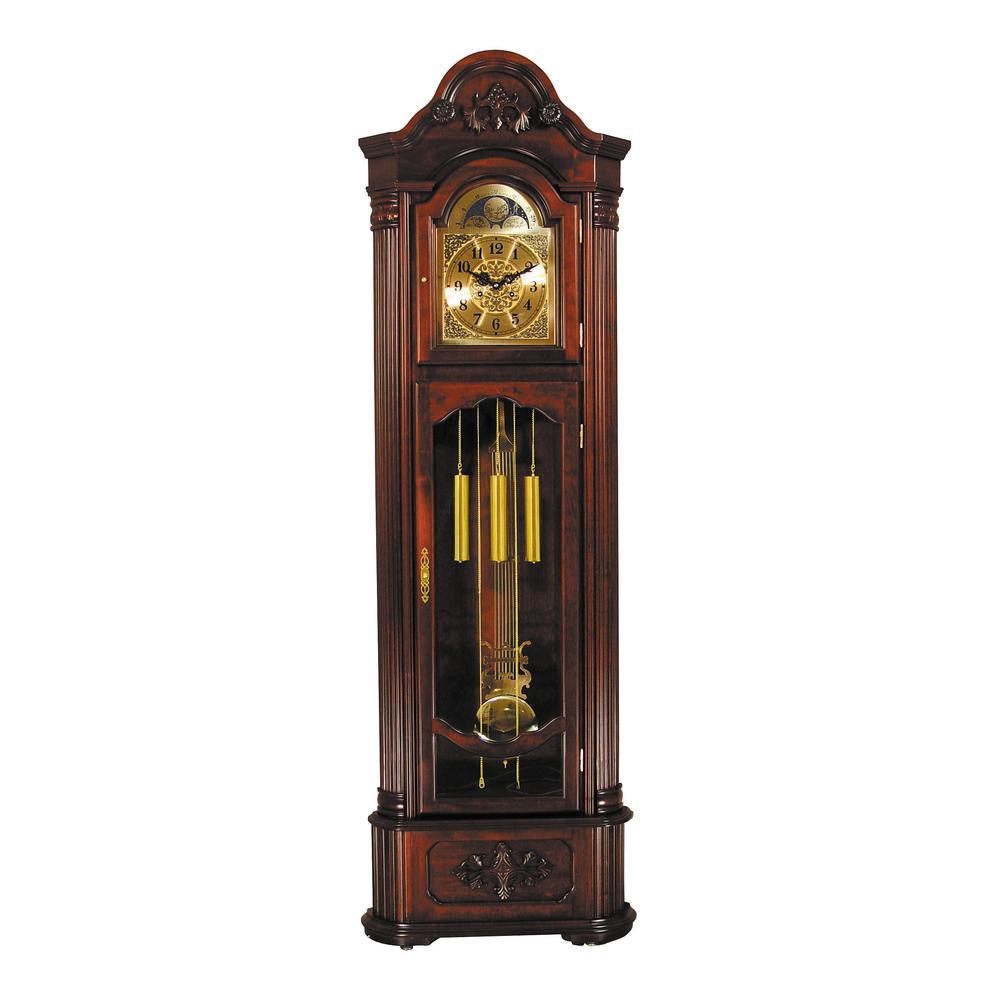 Longwood Grandfather Clock, Dark Walnut. Picture 3