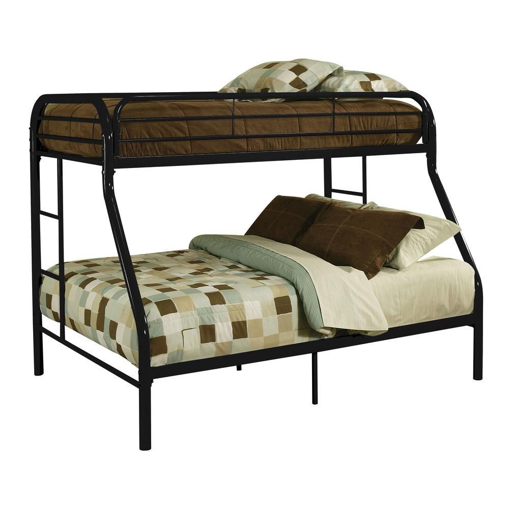 Tritan Twin XL/Queen Bunk Bed, Black. Picture 1