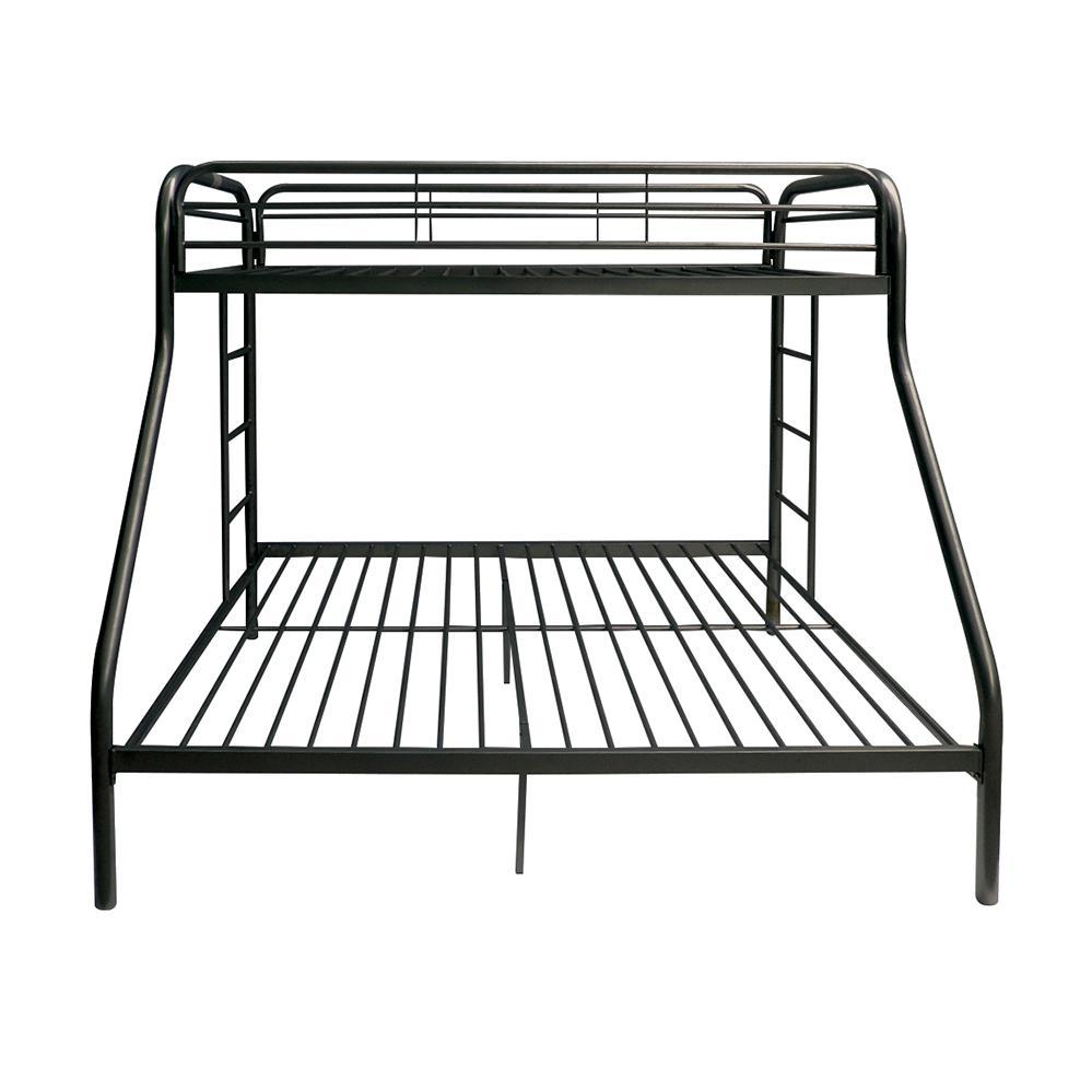 Tritan Twin XL/Queen Bunk Bed, Black. Picture 4