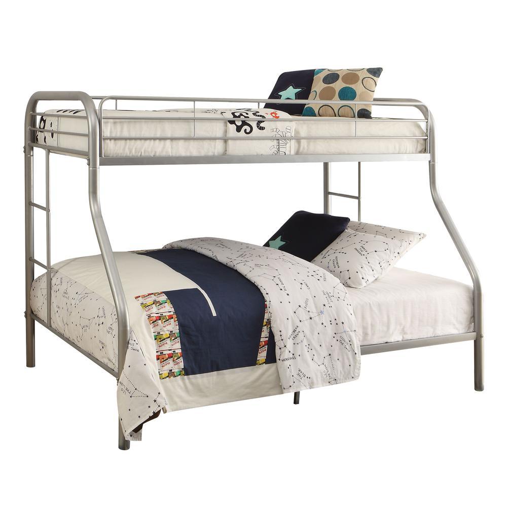 Tritan Twin XL/Queen Bunk Bed, Silver. Picture 1