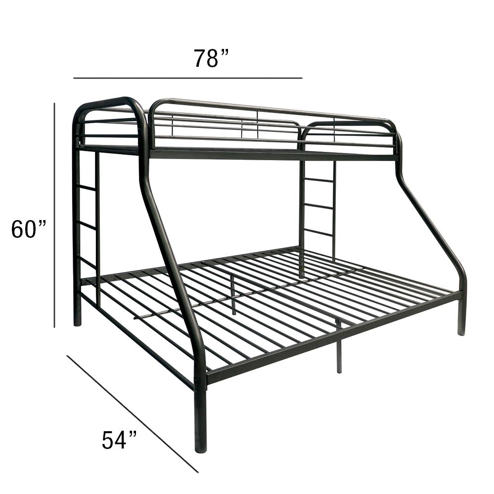 Tritan Twin/Full Bunk Bed, Black. Picture 2