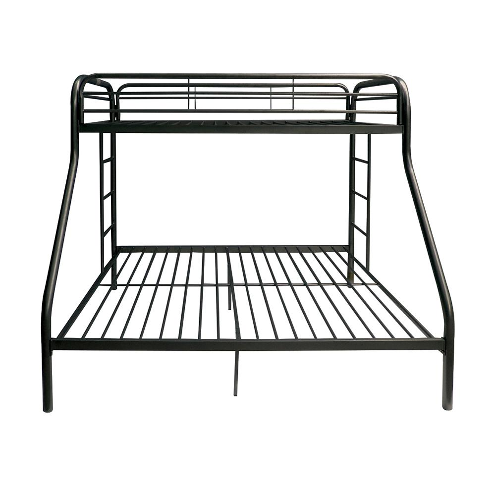 Tritan Twin/Full Bunk Bed, Black. Picture 3