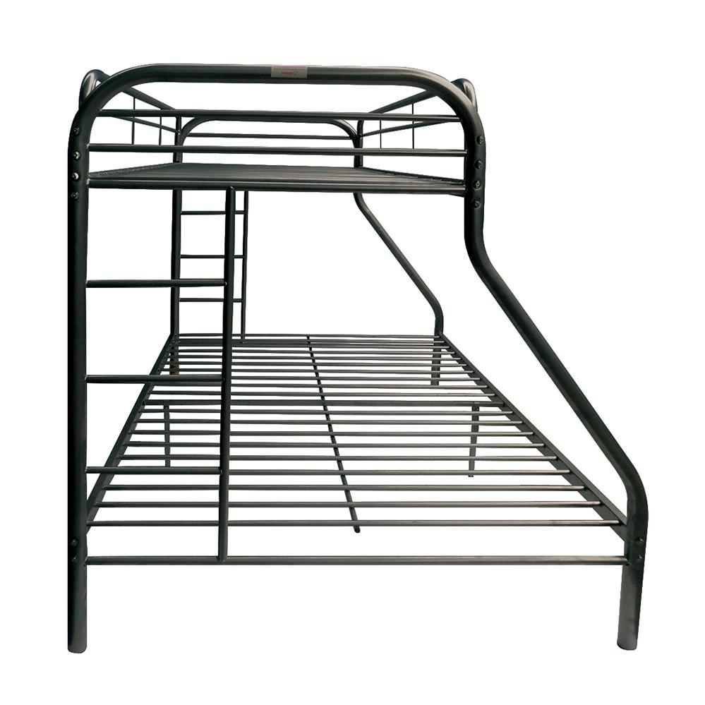 Tritan Twin/Full Bunk Bed, Black. Picture 4