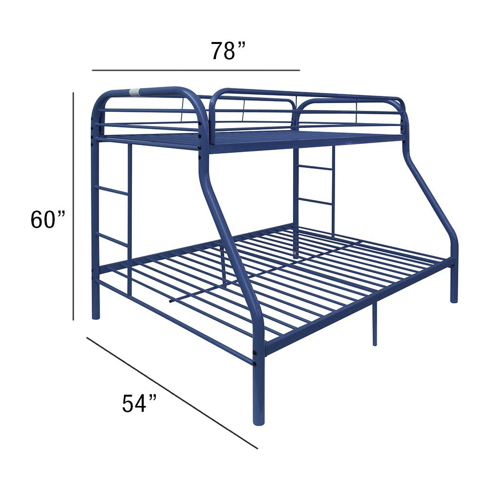 Tritan Twin/Full Bunk Bed, Blue. Picture 2