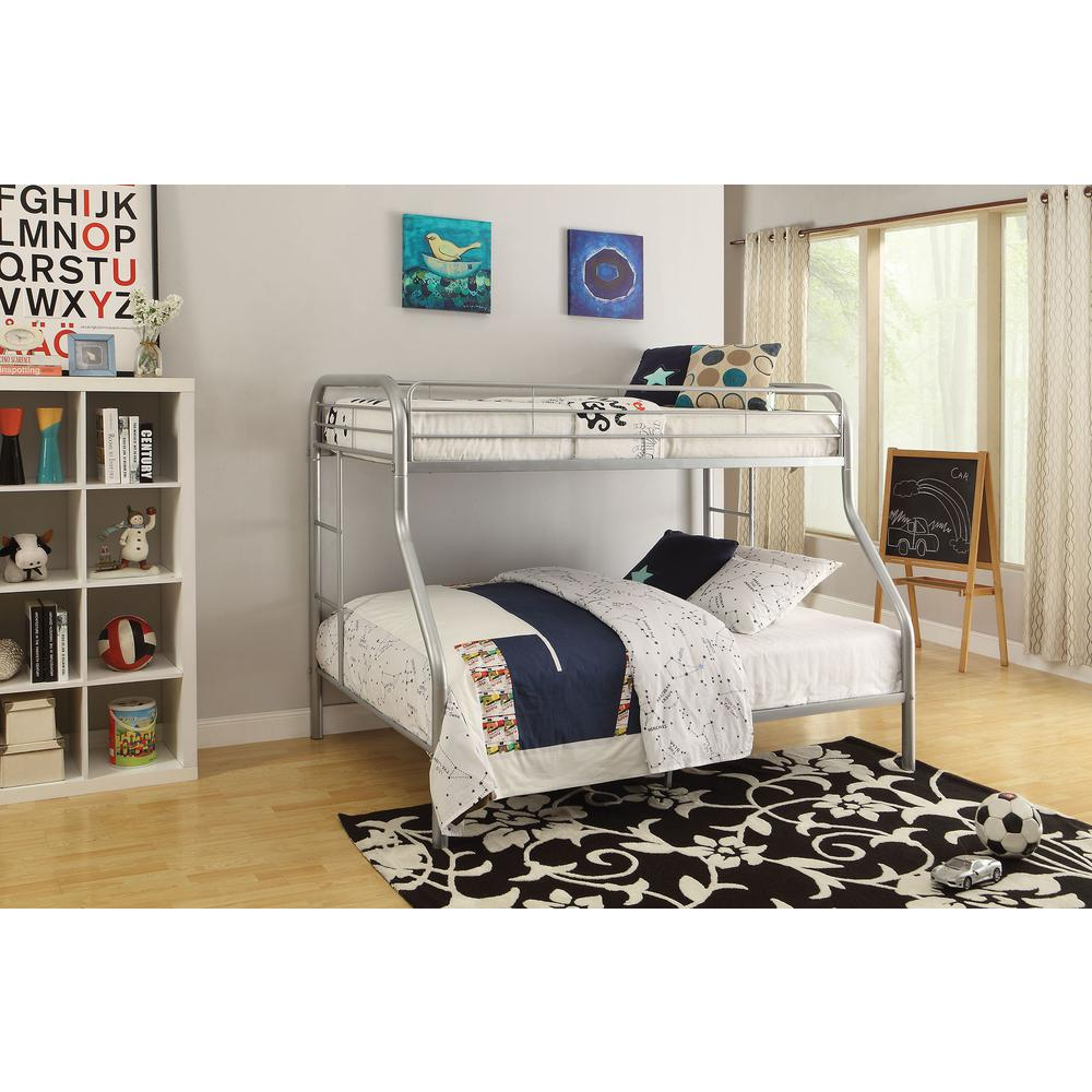 Tritan Twin/Full Bunk Bed, Silver