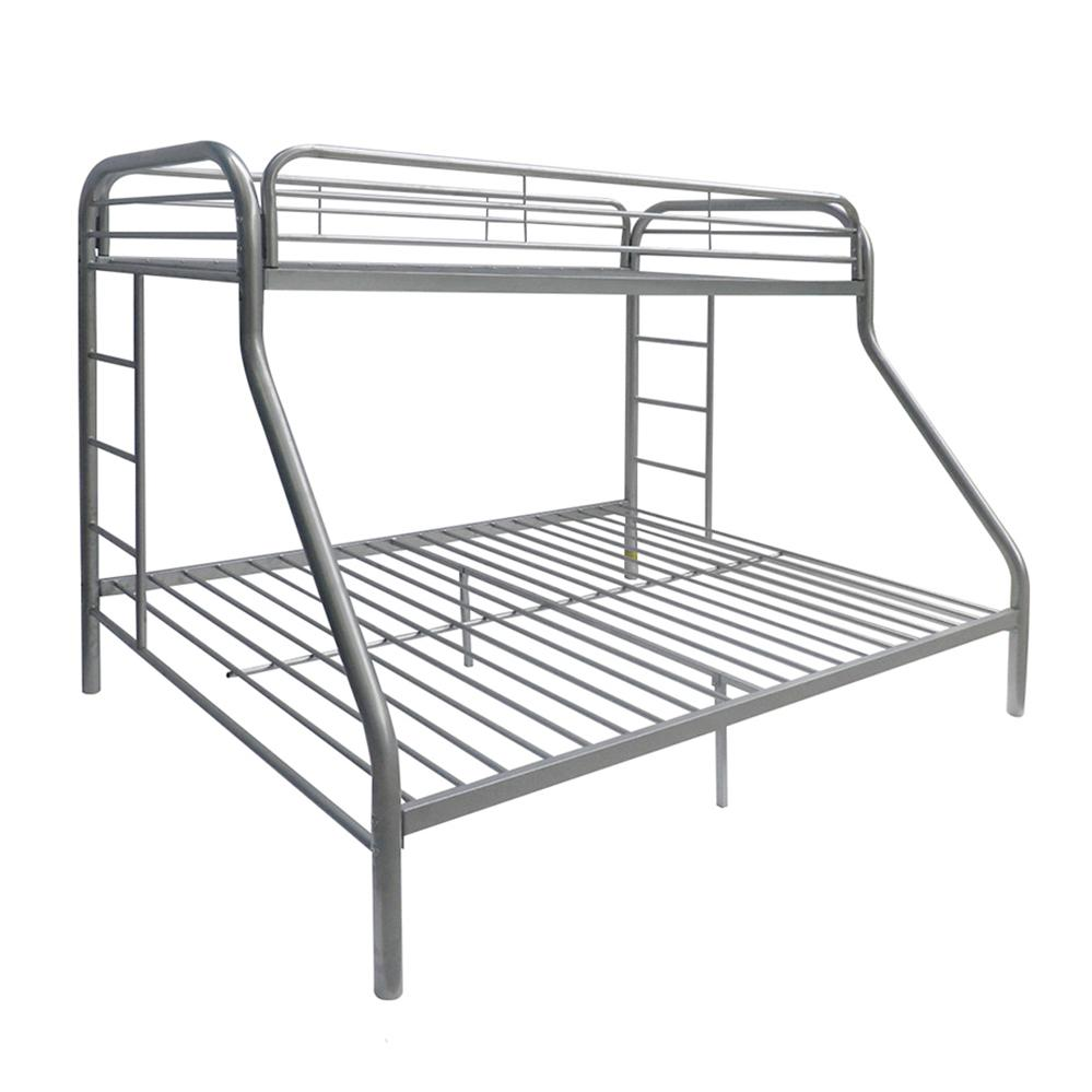 Tritan Twin/Full Bunk Bed, Silver. Picture 2