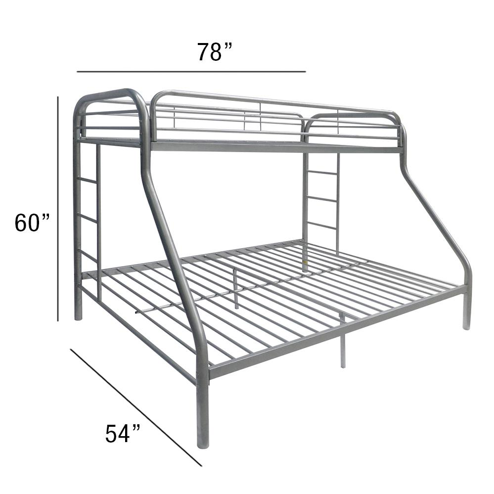 Tritan Twin/Full Bunk Bed, Silver. Picture 3