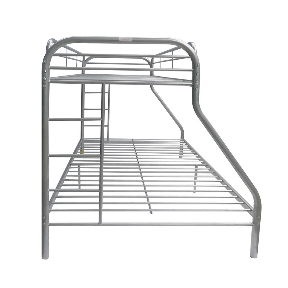 Tritan Twin/Full Bunk Bed, Silver. Picture 5