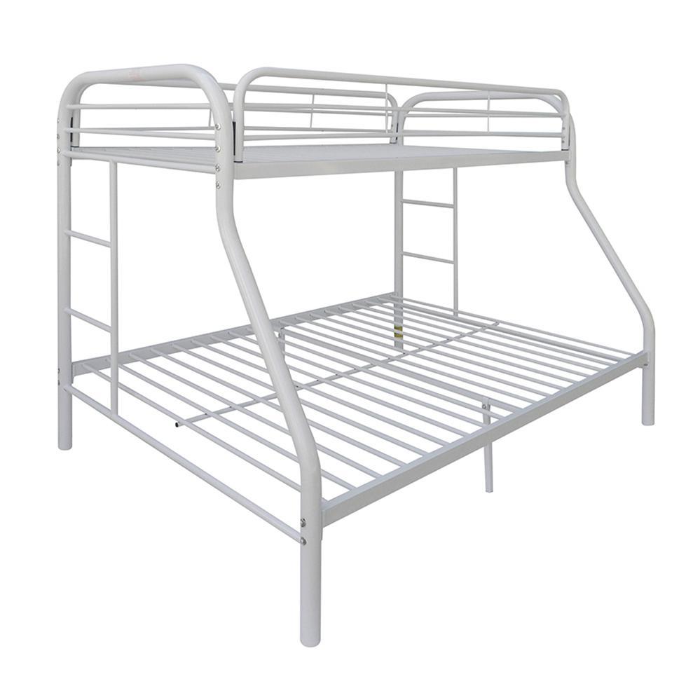 Tritan Twin/Full Bunk Bed, White. Picture 2