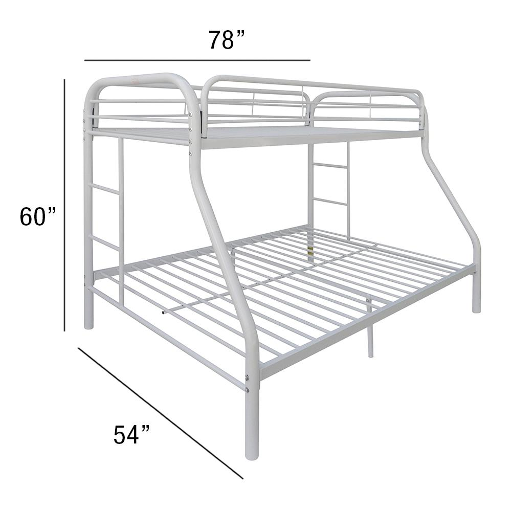 Tritan Twin/Full Bunk Bed, White. Picture 3