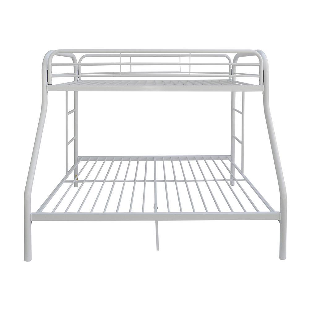 Tritan Twin/Full Bunk Bed, White. Picture 4