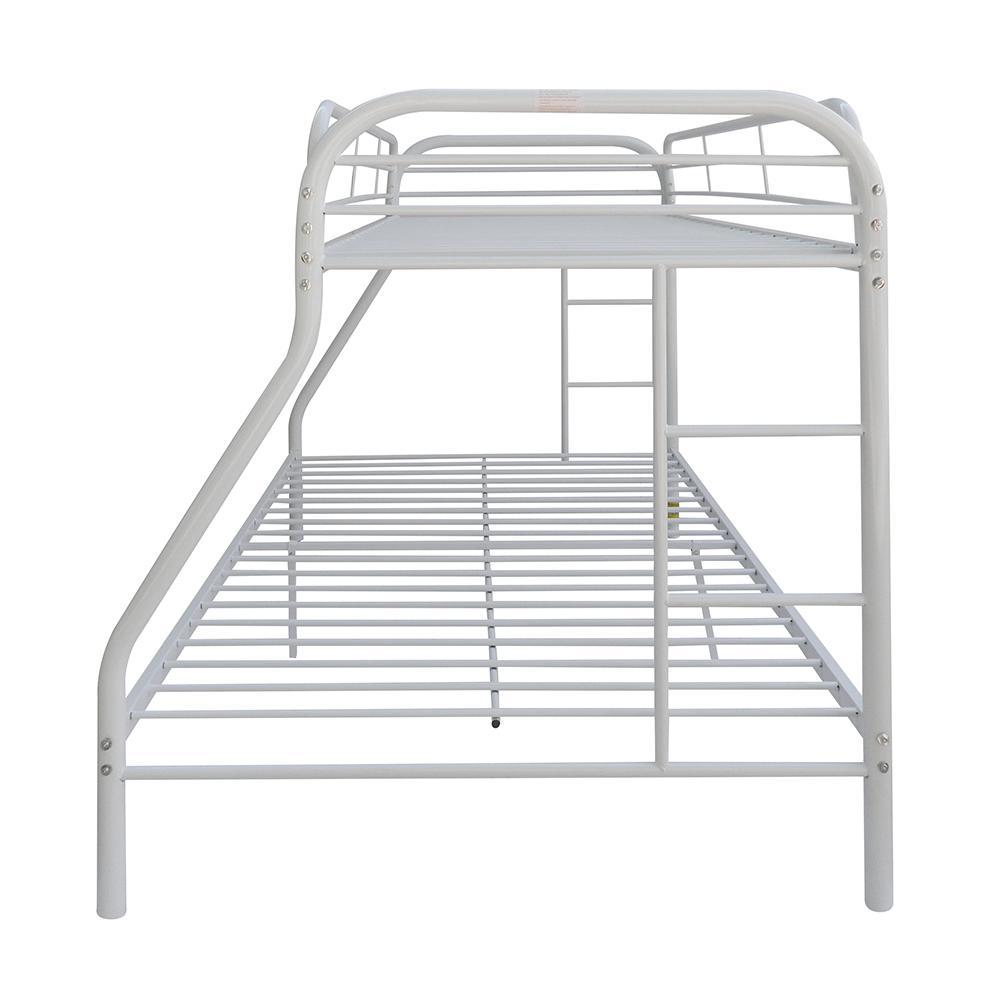 Tritan Twin/Full Bunk Bed, White. Picture 5