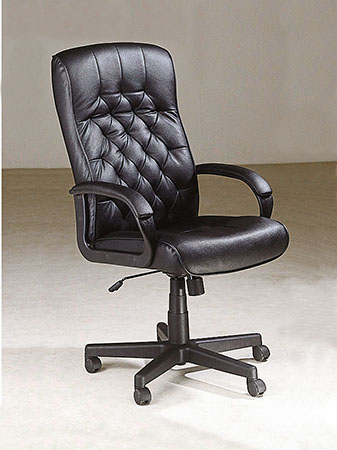 Charles Office Chair with Pneumatic Lift, Black PU. Picture 1