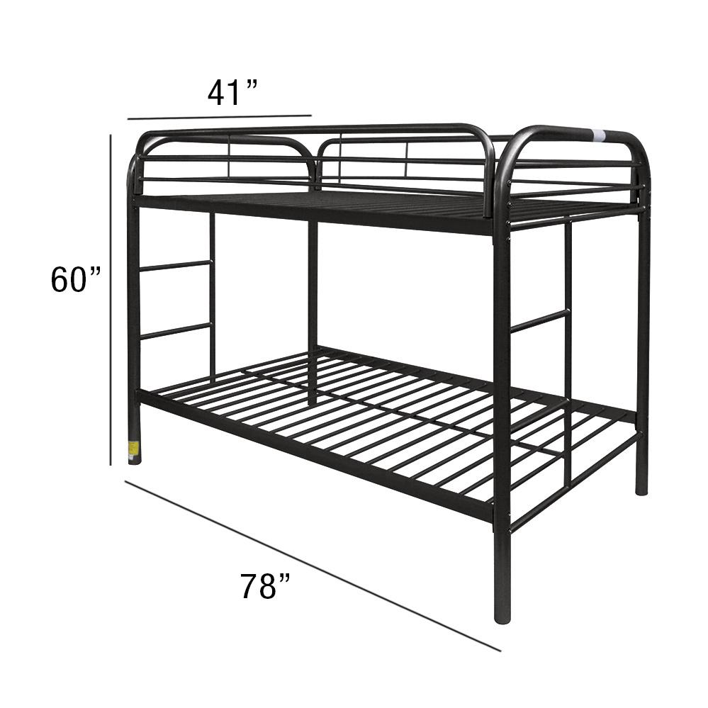 Thomas Twin/Twin Bunk Bed, Black. Picture 2
