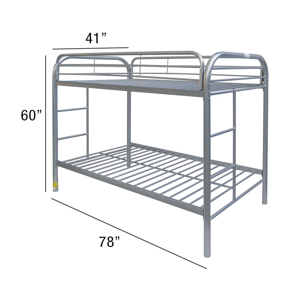 Thomas Twin/Twin Bunk Bed, Silver. Picture 2