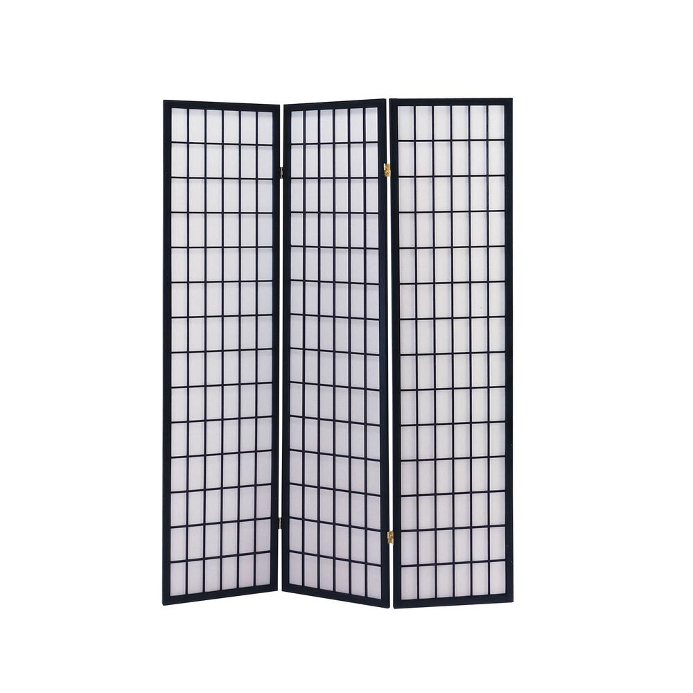 Naomi 3-Panel Room Divider, Cherry. Picture 2