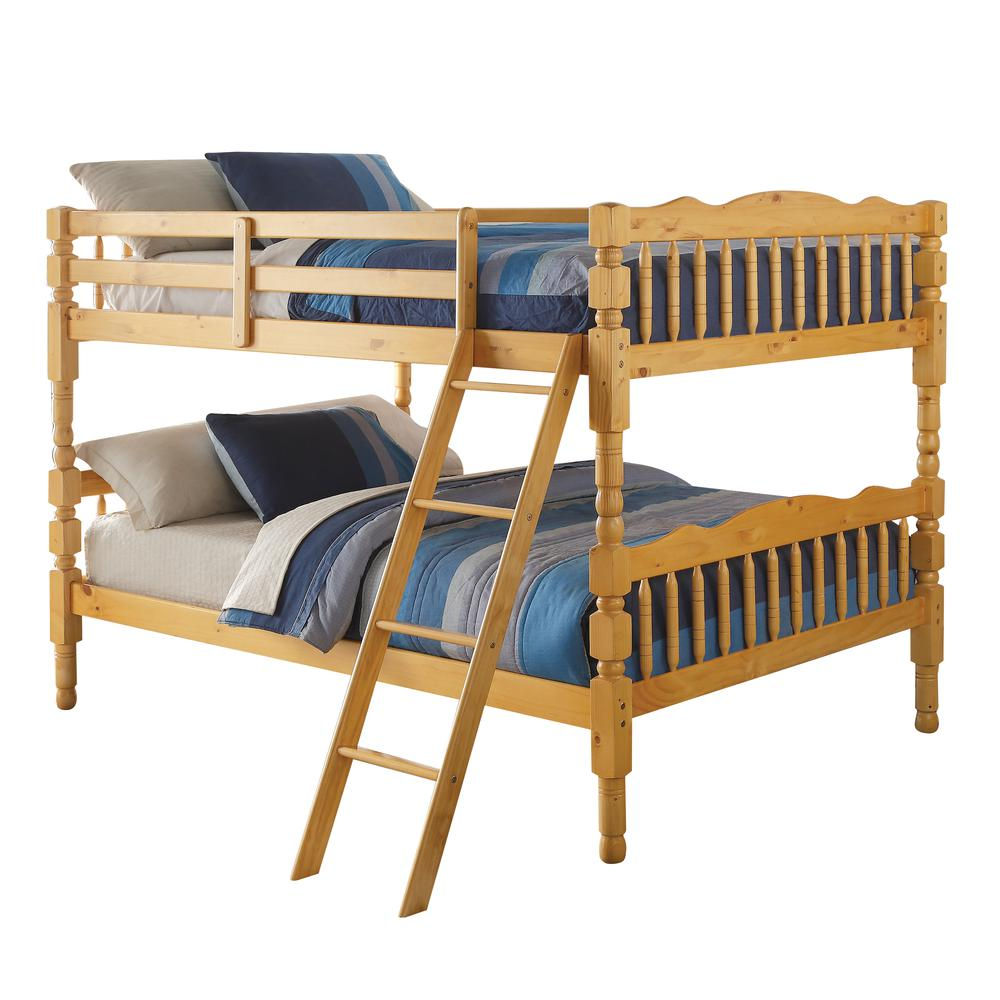 Homestead Full/Full Bunk Bed, Natural (1Set/2Ctn). Picture 1