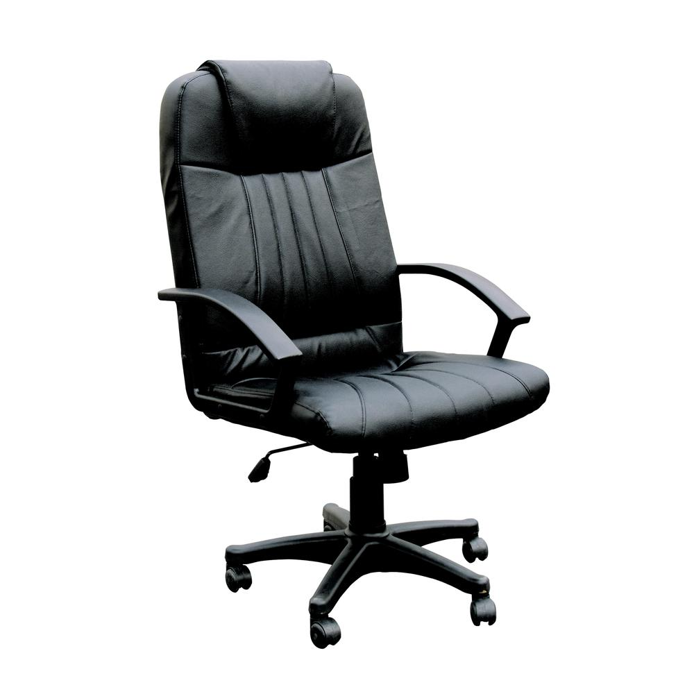 Arthur Office Chair with Pneumatic Lift, Black Bonded Leather. Picture 1