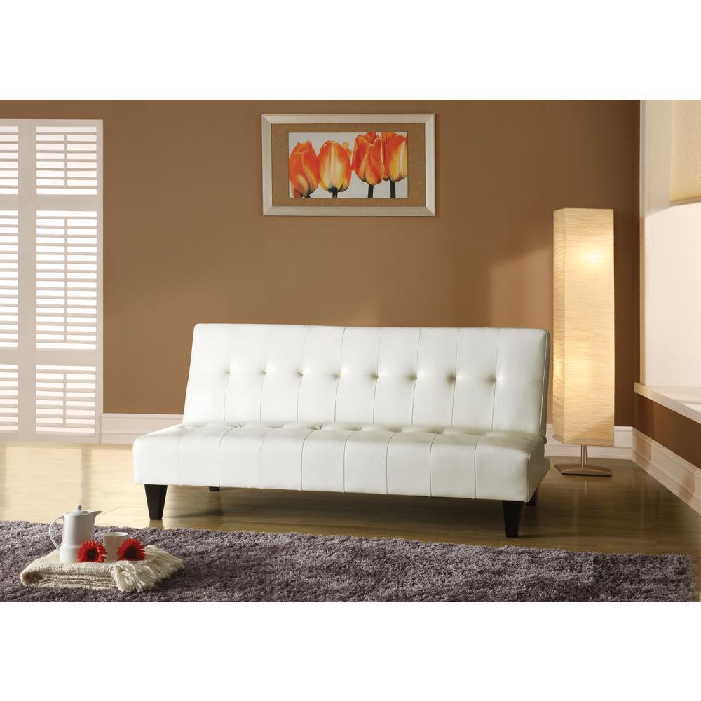 Conrad Adjustable Sofa, White PU. Picture 1