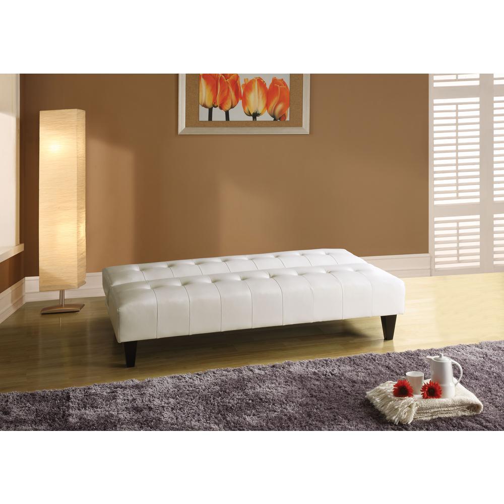 Conrad Adjustable Sofa, White PU. Picture 2