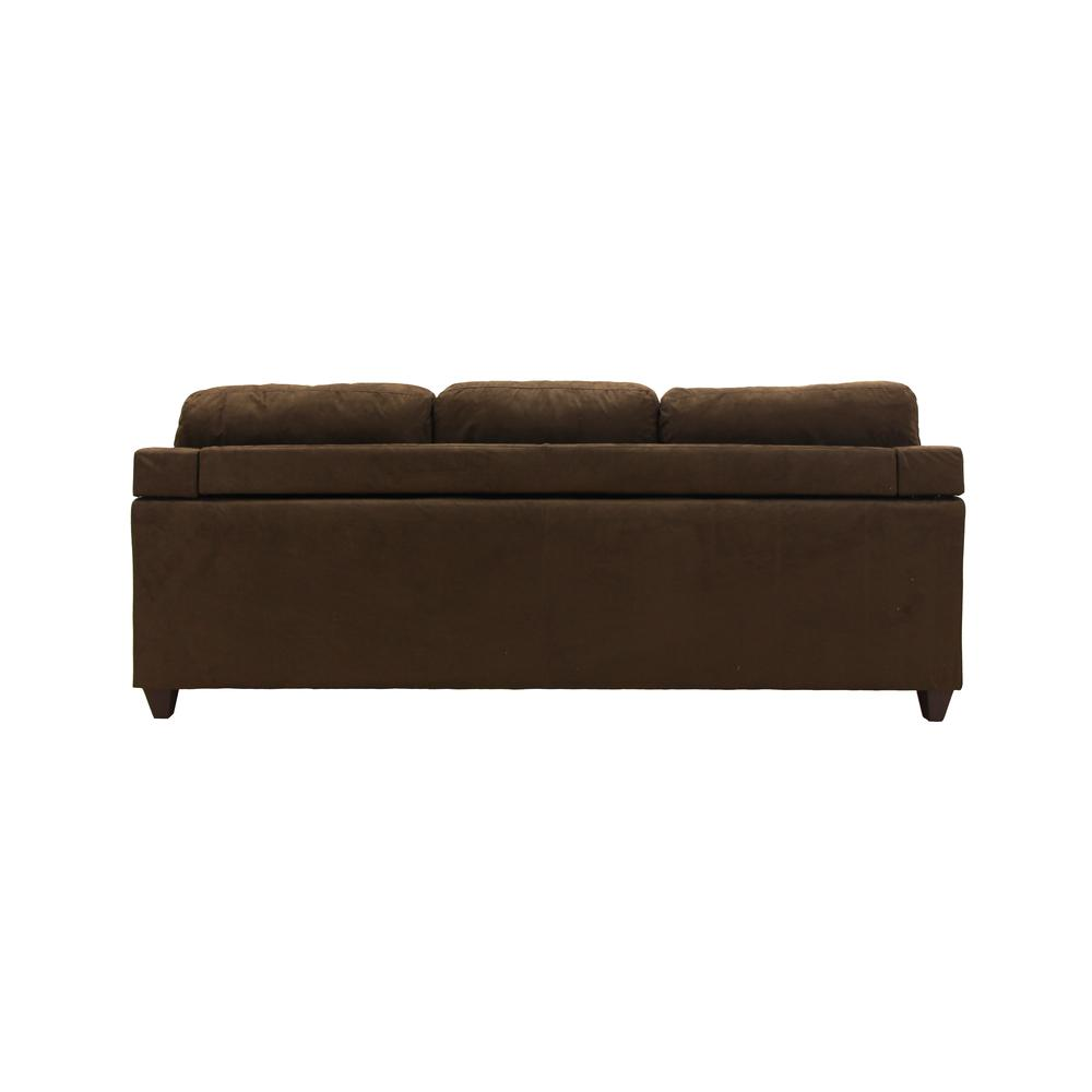 Vogue Sectional Sofa (Reversible Chaise), Chocolate Microfiber. Picture 2