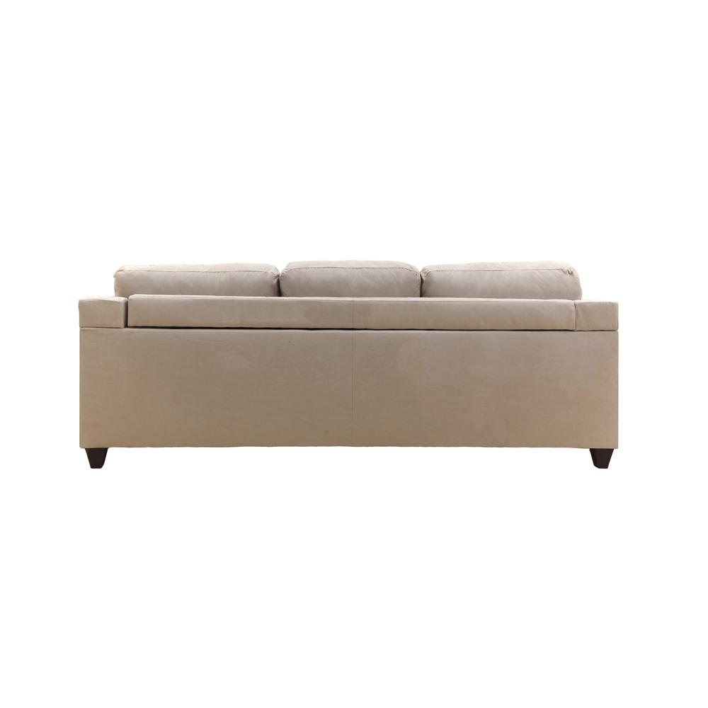 Vogue Sectional Sofa (Reversible Chaise), Chocolate Microfiber. Picture 10