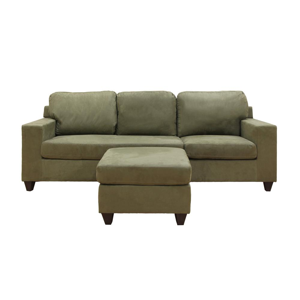 Vogue Sectional Sofa (Reversible Chaise), Chocolate Microfiber. Picture 15
