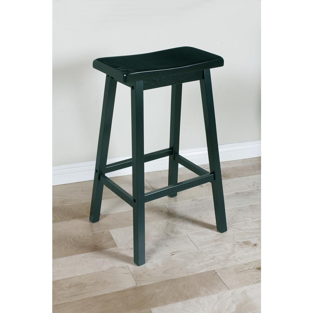 "Gaucho Bar Stool (Set-2), Black, 29"" Seat Height. Picture 1"