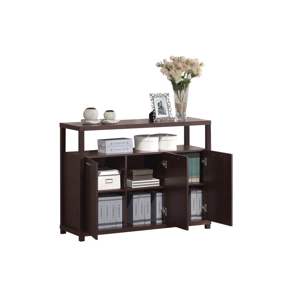 Hill Console Table, Espresso. Picture 1