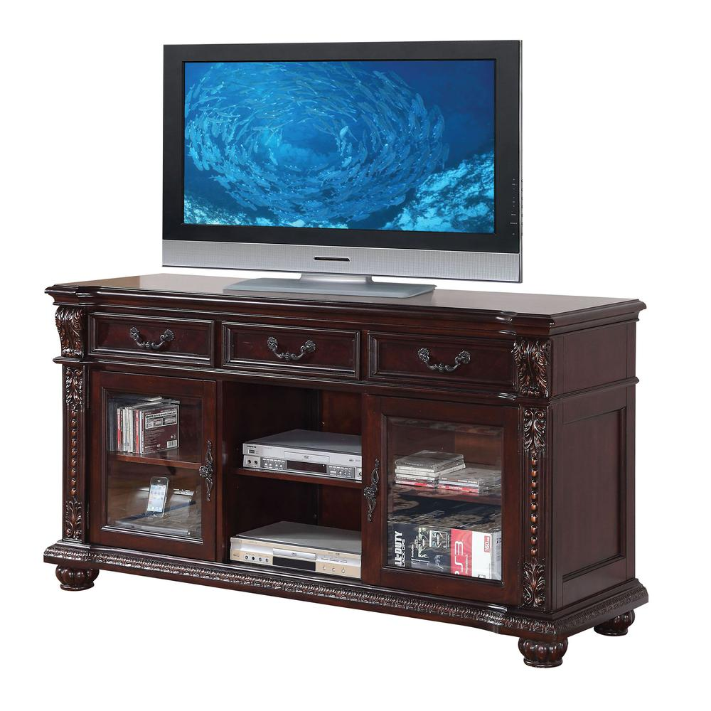 Anondale TV Stand, Cherry. Picture 1